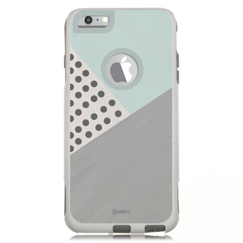 iPhone 6 Case White Hybrid Geometric Mint Polka Dots by Unnito