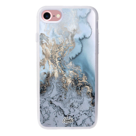 iPhone 7 Clear Case Marble Turquoise- Crusader