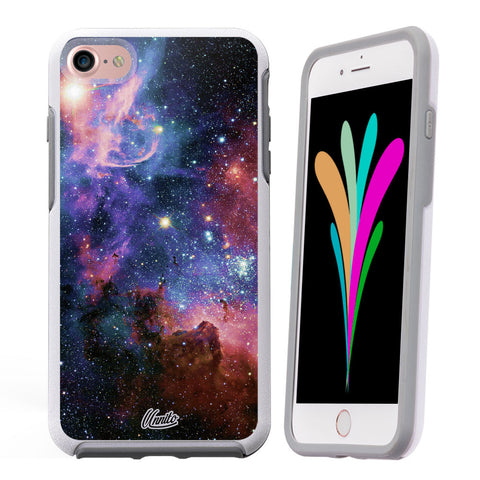 iPhone 7 Case White Symmetry Galaxy Nebula by Unnito