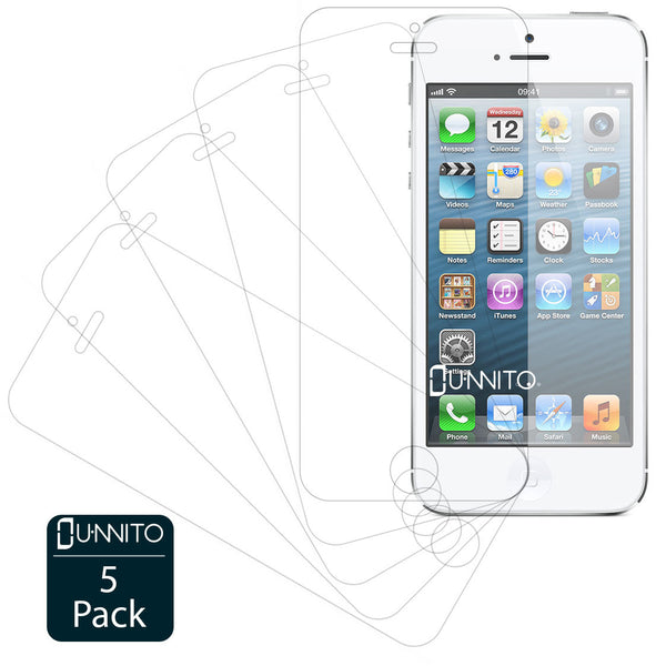 Unnito iPhone 5 / 5S Ultra Clear HD Screen Protectors [5 Pack]