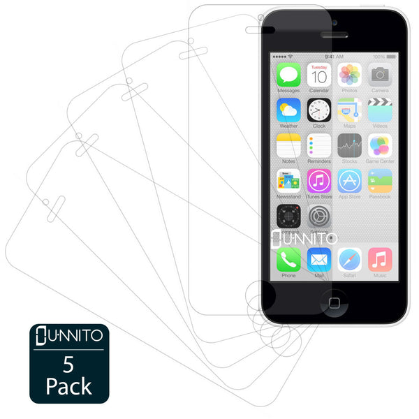 Unnito iPhone iPhone 5C Ultra Clear HD Screen Protectors [5 Pack]