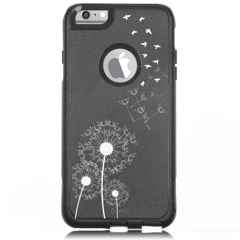 iPhone 6 Case Black Hybrid Dandelion Birds By Unnito