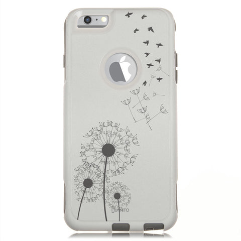 iPhone 6 Case White Hybrid Dandelion Birds by Unnito