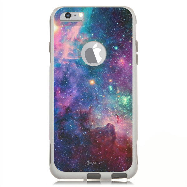 iPhone 6 PLUS Case White Hybrid Nebula Galaxy by Unnito