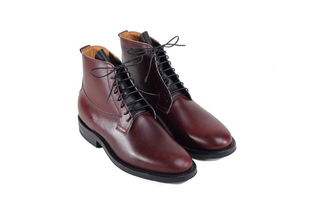 Country Derby Burgundy Box Calf