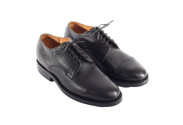 Derby Shoe Black Camel