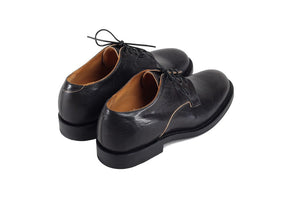 Derby Shoe Black Horsehide