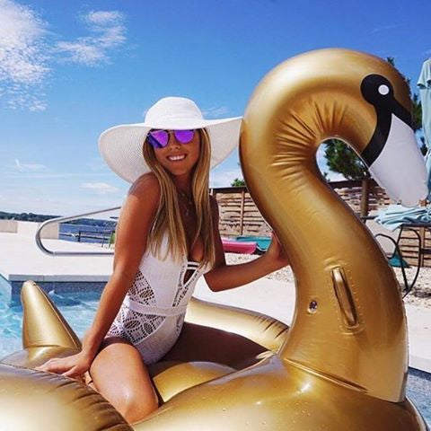 LUXE GIANT GOLD SWAN FLOAT