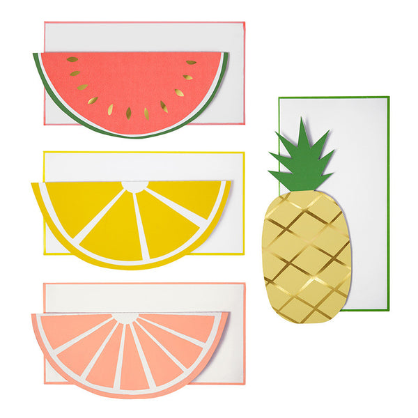 Funky Fruity Note Cards with envelopes