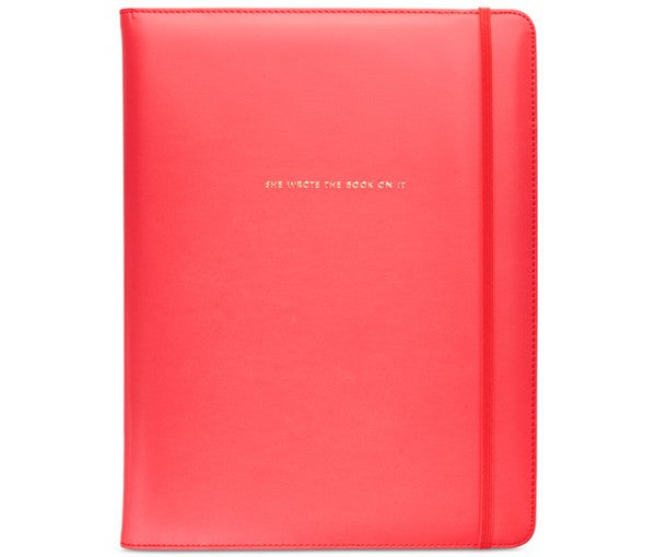 KATE SPADE NY Notebook Folder - She wrote a book on it