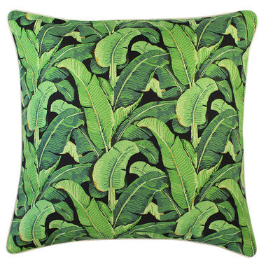 Outdoor Cushion Cover - Banana Leaf Salmon