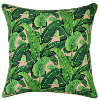Outdoor Cushion Cover - Banana Leaf Salmon - Large