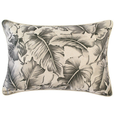 Outdoor Cushion Cover Caribbean Ocean Grey with Piping