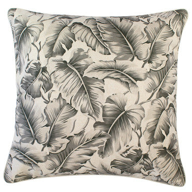 Outdoor Cushion Cover-Caribbean Ocean Grey-With Piping