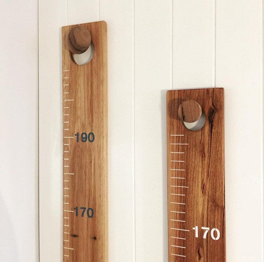 """Kids Rule' Wooden Ruler Height Chart"