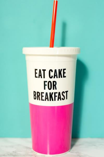 Kate Spade Insulated Tumbler - Eat Cake for Breakfast