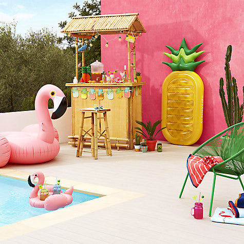 LUXE GIANT HOT PINK FLAMINGO FLOAT