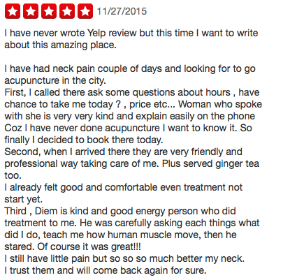 Dr Diem's 5 Star Review