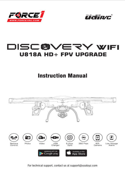 Wifi1702221 2. 4g wifi fpv drone user manual 15_u818a plus userman.