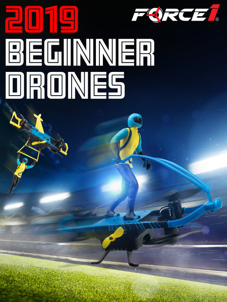 2-1 Drone kids can use 2 ways - as a hover board drone and a paraglider drone. A new beginner drone from Force1