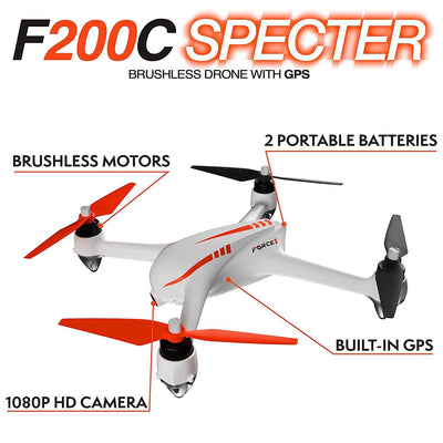 F200C Specter GPS 1080p Camera Brushless Drone