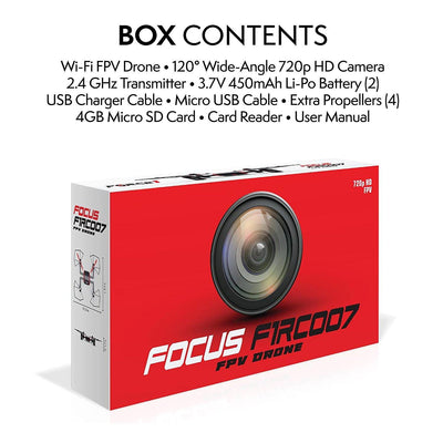 Focus FPV Drone 720p HD Camera Live Video