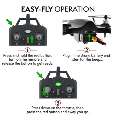 Drone Ghost F100 Drone with Brushless Motors (Camera Not Included)