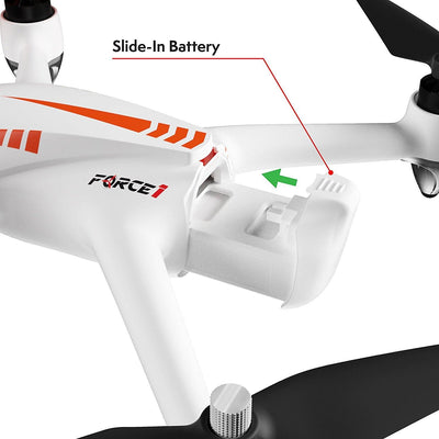 Force1 MJX Bugs 2W Bugs 2C F200W Shadow and F200C Specter Quadcopter Drone (White)