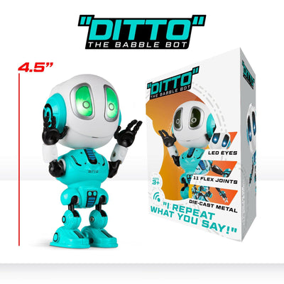 Toy Robot – Ditto Mini Talking Robot with Posable Body and Voice Changer (4 colors) - Force1RC