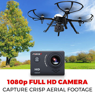 F100GP RC Brushless Motor 1080P HD Camera Drone with Extra Battery - Force1RC