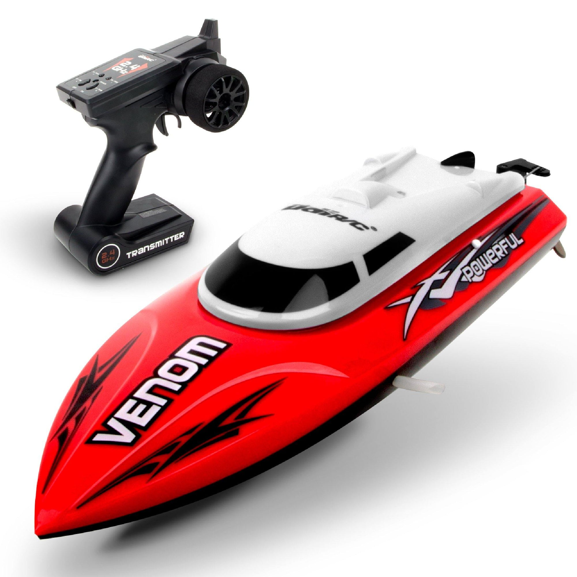 Remote Control Boat For Pools Lakes Udi001 Venom Fast Rc Boat For Kids Adults Self Righting Remote Controlled Boat W Extra Battery Red