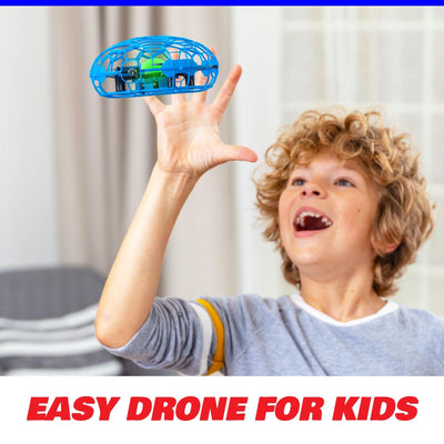 Force1 Scoot XL Hand Drone for Kids and Adults - UFO Flying Ball Drone (Blue/Black)