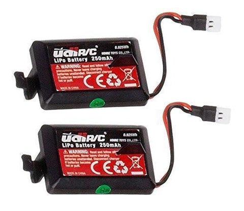 2 Genuine UDI RC 3.7V 250mAh Rechargeable Li-Po Batteries for UDI U32 Drone