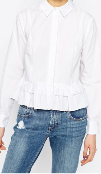 Libby Tiered Ruffle Button Up