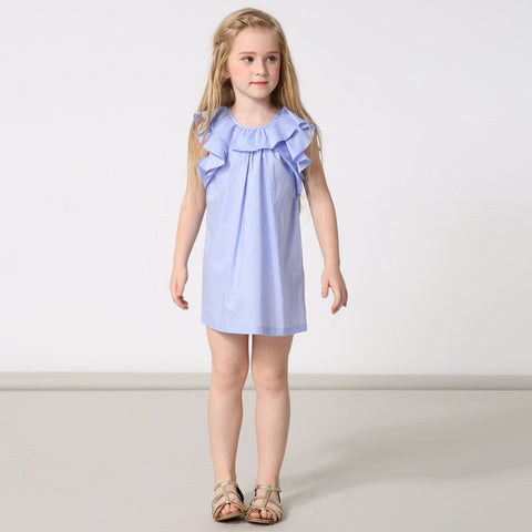 Ruffle Sleeve Summer Sun Dress