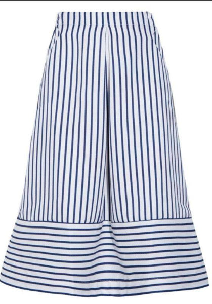 freeport striped midi skirt