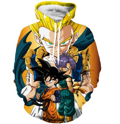gotenks hoodie, dragon ball z sweater