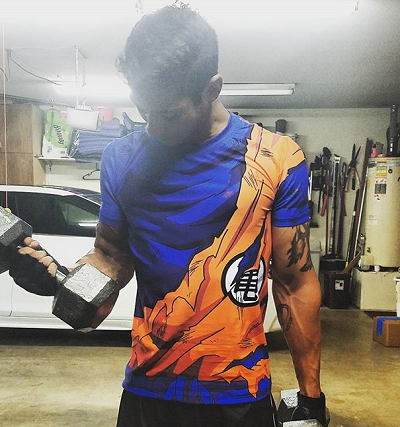 Goku battle damaged shirt