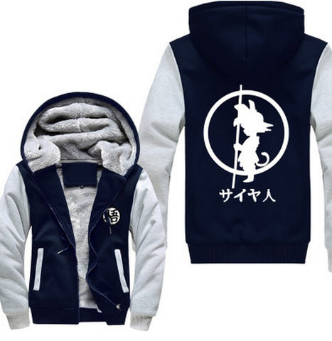 Blue and white Son Goku Cosplay Hoodie