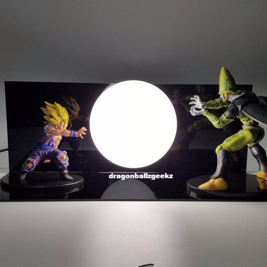 Gohan vs Cell lamp set