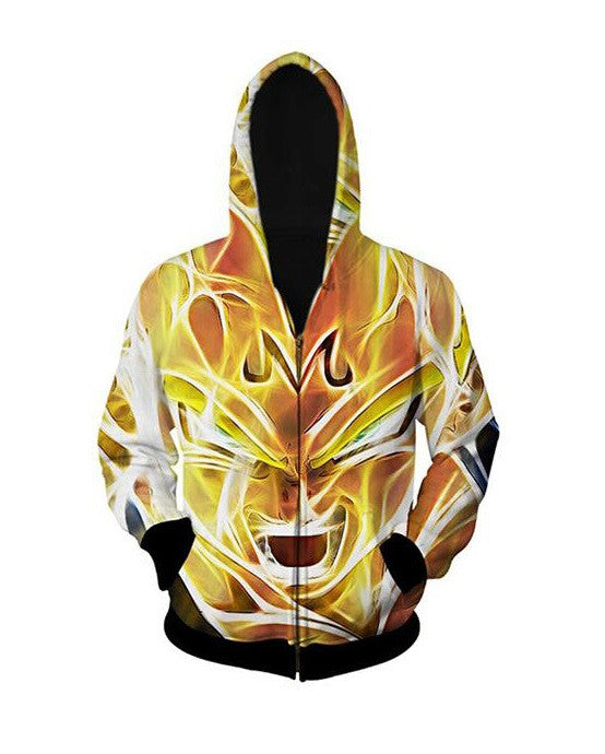 Majin vegeta 3D Hoodie (Black band edition)