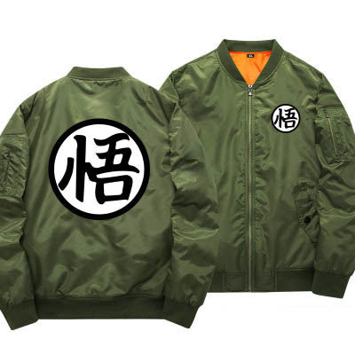 Army green and black bomber jacket