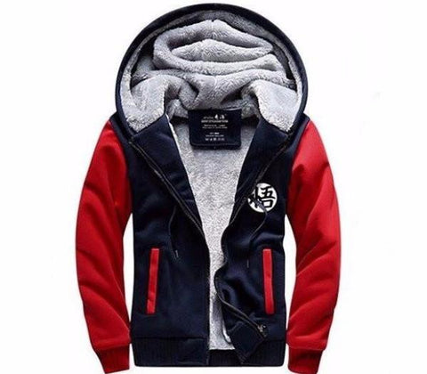Navy Red Dragon ball z Goku's Hoodie