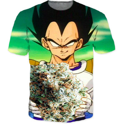 Pot head vegeta t shirt