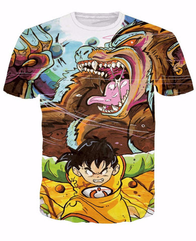 Gohans Rage 3d T shirt - Dragon ball z Merchandise
