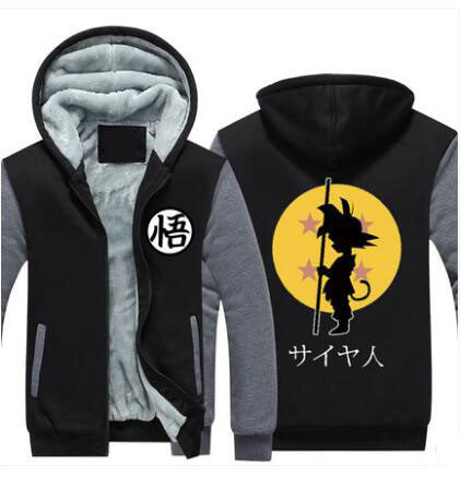 Black and grey Son Goku Cosplay  Hoodie