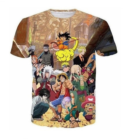 anime action force 3D t shirt