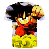 Kid goku flying nimbus t shirt