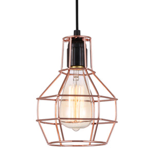 Lampada Brillare Copper Cage Pendant Light