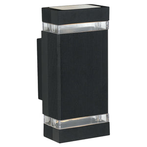 Centro Aluminium Up & Down Outdoor Wall Light